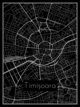 Karta över Timișoara