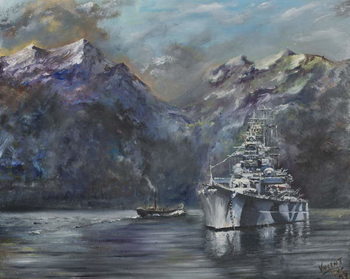 Konsttryck Tirpitz, Norway, 1995,