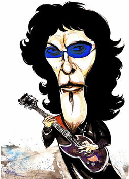 Konsttryck Tommy Iommi - caricature