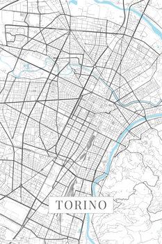 Karta över Torino white
