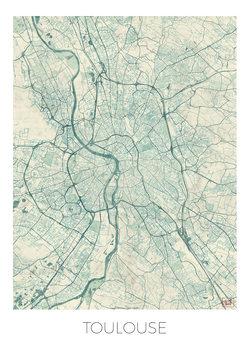 Karta över Toulouse