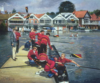 Konsttryck Towards the Boathouses, Henley, 1997