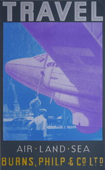 Konsttryck Travel: Air, Land Sea