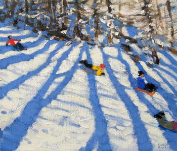 Konsttryck Tree shadows, Morzine