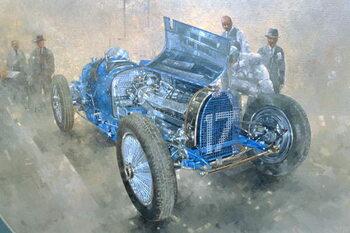 Konsttryck Type 59 Grand Prix Bugatti, 1997