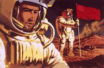 Konsttryck Unidentified cosmonauts