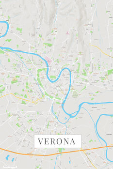 Karta över Verona color