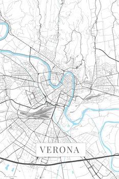 Karta över Verona white
