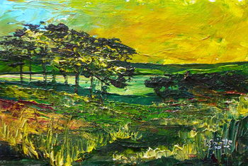 Konsttryck Vers L'Etang de Miragoane, 2010