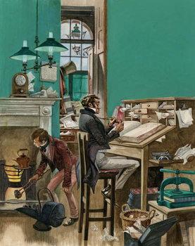 Konsttryck Victorian office
