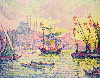 Konsttryck View of Constantinople, 1907