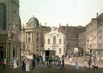 Konsttryck View of Michaelerplatz showing the Old Burgtheater