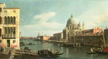 Konsttryck View of the Grand Canal: Santa Maria della Salute and the Dogana from Campo Santa Maria Zobenigo, early 1730s