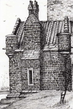 Konsttryck Wallace monument the small house, 2007,