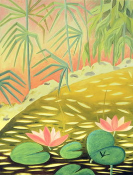 Konsttryck Water Lily Pond I, 1994