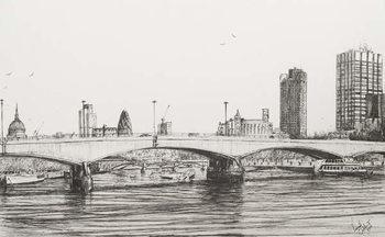 Konsttryck Waterloo Bridge London, 2006,
