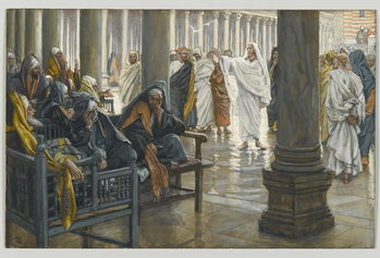 Konsttryck Woe unto You, Scribes and Pharisees, illustration from 'The Life of Our Lord Jesus Christ', 1886-94