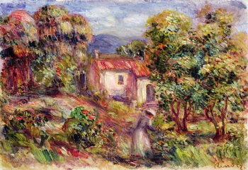 Konsttryck Woman picking Flowers in the Garden of Les Colettes at Cagnes, 1912
