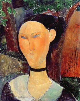 Konsttryck Woman with a Velvet Neckband, c.1915