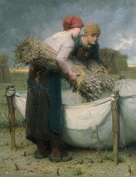 Konsttryck Women in the Field, 1882