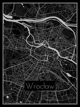 Karta över Wrocław