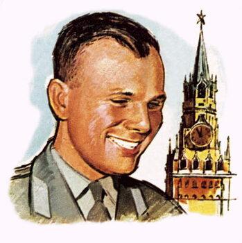 Konsttryck Yuri Gagarin