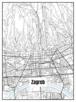 Karta över Zagreb
