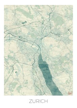 Karta över Zurich