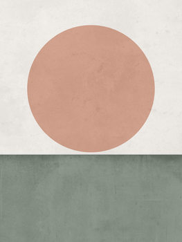 Exklusiva konstfoton abstractorangesungreen1