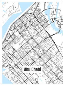 Karta över Abu Dhabi
