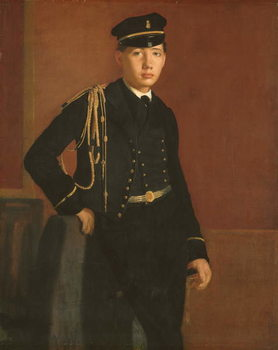 Konsttryck  Achille De Gas in the Uniform of a Cadet, 1856-7