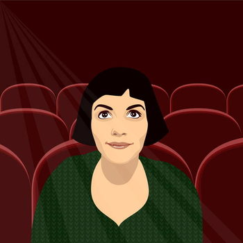 Konsttryck Amelie at the Flix