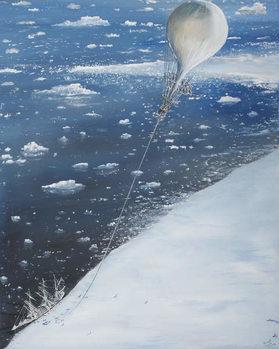 Konsttryck  Antarctica's first Aeronaut Captain Scott 4th February 1902, 2005