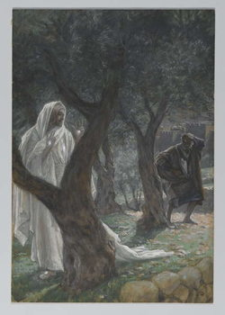 Konsttryck Apparition of Our Lord to Saint Peter, illustration from 'The Life of Our Lord Jesus Christ', 1886-94