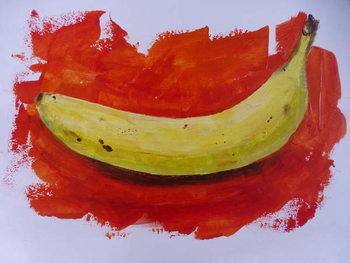 Konsttryck Banana