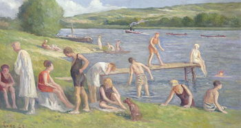 Konsttryck  Bathers on the Banks of the Seine