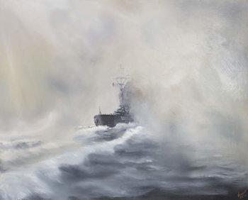 Konsttryck Bismarck evades her persuers May 25th 1941, 2005,