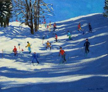 Konsttryck Blue shadows, Morzine