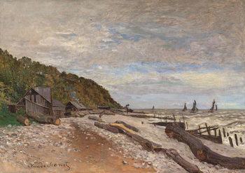 Konsttryck  Boatyard Near Honfleur; Le Chantier de Petits Navires, pres de Honfleur, 1864