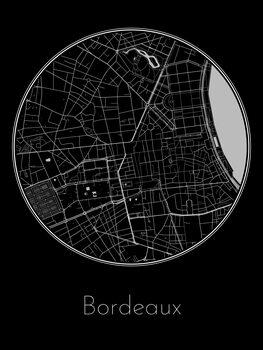 Karta över Bordeaux