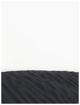 Illustration border black sand