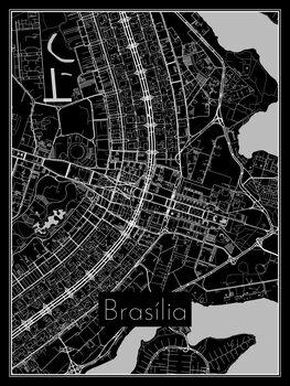 Karta över Brasília