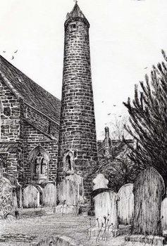 Konsttryck Brechin Round Tower Scotland, 2007,