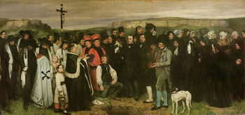 Konsttryck  Burial at Ornans, 1849-50