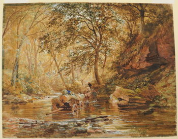 Konsttryck  Cadzow Burn, 1856