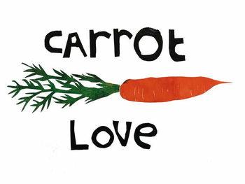 Konsttryck carrot love,2019