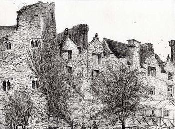 Konsttryck  Castle ruin Hay on Wye, 2007,