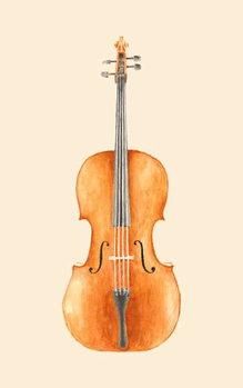 Konsttryck Cello