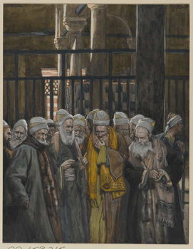 Konsttryck  Conspiracy of the Jews, illustration from 'The Life of Our Lord Jesus Christ', 1886-94