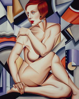 Konsttryck Cubist Nude